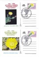 CACTUS OPUNTIA VULGARIS MILL 2X, 2005, SPECIAL CARD, OBLITERATION STAMPS CONCORDANTE, ROMANIA - Sukkulenten