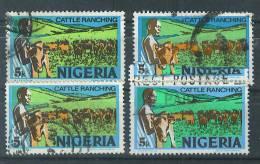 VEND TIMBRES DU NIGERIA N° 284 (B) X 4 NUANCES DIFFERENTES !!!! (b) - Nigeria (1961-...)