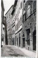 """Cartolina  D´epoca  """" VOLTERRA - Via Buomparenti - Casa Miranceli, XIV Sec.- Casa Berardi, Sec.XIV   """" - Pisa"""