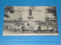 CPA 55 MEUSE SAINT GERMAIN Place Curel (bien Animee Nombreux Enfants) - France