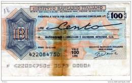 ITALY 100 L Istituto Bancario Italiano Lot18 - [ 2] 1946-… : République