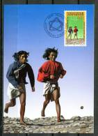 """Liechtenstein 1994 Maxicart Fussball WM Mi.Nr.1083 Maximumkarte """" Fußball-Weltmeisterschaft USA,Hopi Indianer """" 1MC Used - Football"""