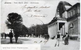 "Cartolina  D´epoca  "" Livorno - Viale Emilio Zola  - Cisternone  "" - Livorno"