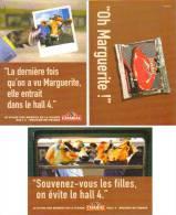 """3 Cartes Postales """"Cart´Com"""" (2002) - Charal - Le Stand Des Mordus De La Viande (vaches) - Publicité"""