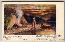 Native American Indians - Home, Sweet Home By H H Tammen - Embossed Postcard 1905 - Native Americans