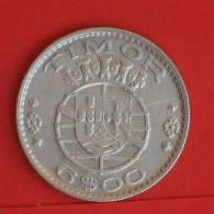 TIMOR  6  ESCUDOS  1958   KM# 15  -    (763) - Timor