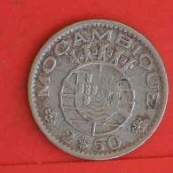 MOZABIQUE  2,5  ESCUDOS  1954   KM# 78  -    (766) - Mosambik