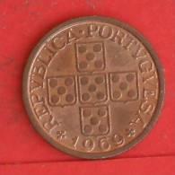 PORTUGAL  20  CENTAVOS  1969   KM# 595  -    (786) - Portogallo