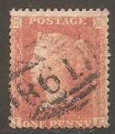 Grande-Bretagne (GB) Victoria 1857 - Penny Star C9 (voir Description) Planche 43 IE - 1840-1901 (Viktoria)