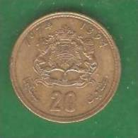20  Dinar  MAROC  1974  (PRIX FIXE)  (AP11) - Marruecos