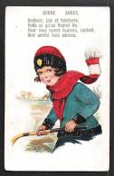 """Petite Fille Et Hockey Sur Glace. """"Comique"""" Série. 5352. Bonne Année. - Dessins D'enfants"""