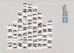 CARTE POSTALE PUBLICITAIRE INSTITUT NATIONAL DES JEUNES SOURDS DE PARIS - Pubblicitari