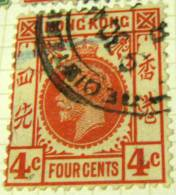 Hong Kong 1912 King George V 4c - Used - Hong Kong (...-1997)