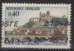 1567 - Cathédrale Et Pont-Vieux De Béziers (1968) Oblitéré - France