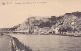 Belgium Dinant Vue generale Pont Citadelle Poste et Hotel de Vil