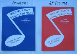 Méthodes De Piano  (1er & 2d Volumes)  Cours élémentaire - Michael Aaron - L´étude Du Piano Modernisée. - Textbooks