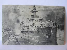 "CPA  Catastrophe Du 'IENA"" - Croquis 13 Mars 1907 - Krieg"