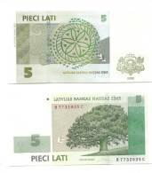 LATVIA  Lettland - 2009 5 LATI / LATS Oak Bank Note - UNC - Lettonia