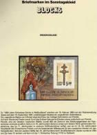 Orthodoxe Kirche Polozk 1993 Weißrußland Block 1B ** 3€ Imperforiert Kreuz Foglietti Bf Art Bloc Church Sheet Of Belarus - Belarus
