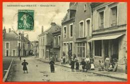 CPA 41 SAVIGNY-sur-BRAYE Loir-et-Cher - Grande Rue * A. Briant Phot-édit. - Animation Beau Plan - France