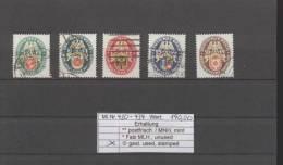 Deutsches Reich Gest 430-434    Deutsche Nothilfe - Oblitérés