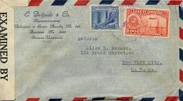 1943?  Censored Air Mail Letter To USA  Sc 370, C96 - Venezuela