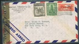 1943  Censored Air Mail Letter To USA  Sc 302, C39, RA20 - Guatemala