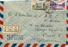 1951 Lettre Avion Recommandée  Pour La France    Mi Nr  592, 595 - Syrie