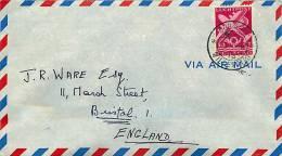 1949  Air Mail Letter To England   Sc C41 - Curaçao, Nederlandse Antillen, Aruba