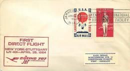 1964   Lufthansa   New York - Stuggart  First Flight  Sc C 54, C66 - Air Mail