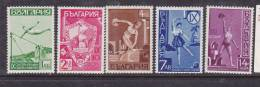 BULGARIE N° 335/339 CONCOURS DES SOCIÉTÉS DE GYMNASTIQUE - 1909-45 Kingdom