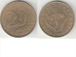 Hungary 20 Forint  1993  Km 696   Xf - Hungary