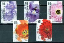Australia 2011 Floral Festivals Set Of 5 Self-adhesives Used - 2010-... Elizabeth II