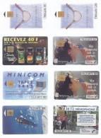 Lot De 8 Télécartes FRANCE (1) - Télécartes