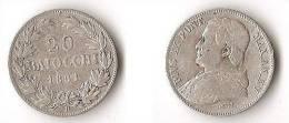VATICAN   20   BAIOCCHI  1861   ARGENT - Vaticano (Ciudad Del)