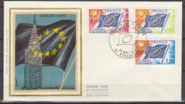 France, 1975, Europe, Conseil De L'Europe, FDC - Idee Europee