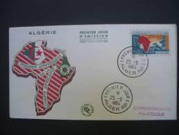 "ALGERIE  De  1964  1er Jour  "" Charte Africaine  :  1er Anniversaire  ""    1  FDC Du 25 / 05 / 1964 - Algeria (1962-...)"