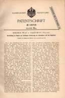 Original Patentschrift - T. Wulf In Valkenburg , 1900 , Orgel - Klavier Verbindung , Piano !!! - Muziekinstrumenten