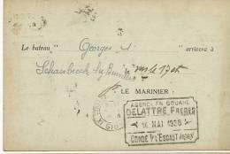 """Schaerbeek Peniche """" Georges 1er """" Agence Douane Delattre Condé/ Escaut - Schaerbeek - Schaarbeek"""