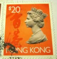 Hong Kong 1992 Queen Elizabeth II $20 - Used - Hong Kong (...-1997)
