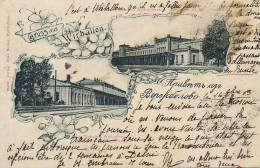 Gruss Aus Wirballen Kybartai  Russia 1903 Lituanie  Train Station 2 - Lituanie