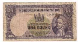 New Zealand - 1 Pound - P159a - FINE - New Zealand