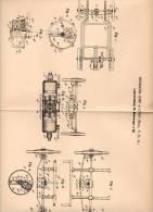 Original Patentschrift - H. Lemp In Lynn  , USA , 1900, Lenkung Für Motorwagen , Automobile !!! - Cars