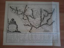 Reproduction Of Street Map Between Paris And Strasbourg 1766
