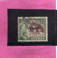 CYPRUS - CIPRUS - CIPRO GREAT BRITAIN 1955 QUEEN ELISABETH II COPPER PYRITES MINE - REGINA ELISABETTA MINIERA RAME USED - Cyprus (...-1960)