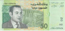 MOROCCO 50 DIRHAMS 2002 PICK 69 UNC - Marruecos