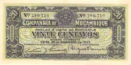 MAZAMBICO 20 CENTAVOS 1933 PICK R29 AUNC - Mozambique