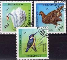 WWF Das Rote Buch Vom Tierschutz 1994 Weißrußland 69/1 O 1€ Höckerschwan Steinadler Eisvogel Birds Fauna Set Of Belarus - Belarus