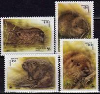 WWF Biberschutz 1995 Weißrußland 96/9 ** 1€ Nationaler Tierschutz Europäischer Biber Castor Fiber Fauna Set Of Belarus - Belarus