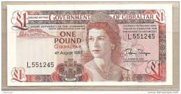 Gibilterra - Banconota Non Circolata Da 1 Sterlina - 1988 - Gibilterra